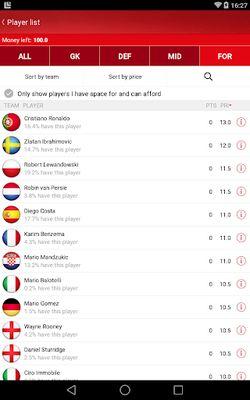 Fantasy UEFA Euro Qualifiers screenshot apk 0