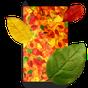 3D Güz yaprakları