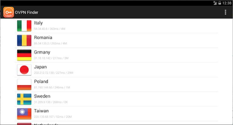 OVPN Finder - Free VPN Screenshot Apk 0