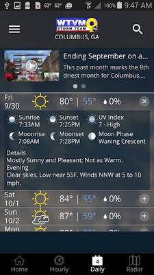 Image from WTVM Storm Team 9 Weather