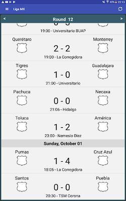 Liga MX Table Image