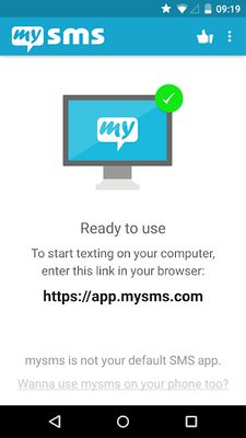 Image 9 of mysms - SMS from computer