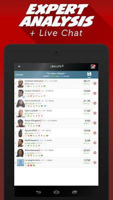 Image from LineStar for FanDuel