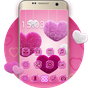 Pink launcher: Lovely diamond Heart Theme