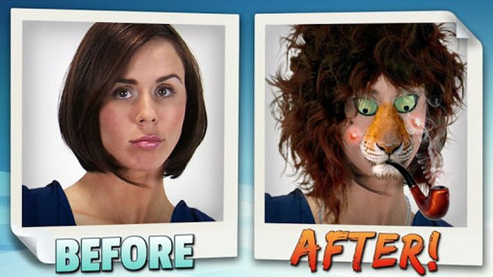Image 1 of Animated face changer.