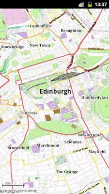 Edinburgh offline map image
