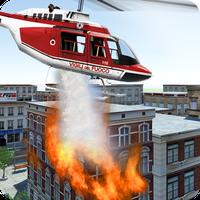 Modern İtfaiye Helikopteri Simgesi