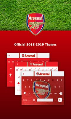 Image 2 of Official keyboard of Arsenal FC