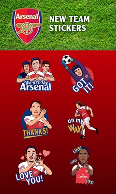 Image 1 of Official keyboard of Arsenal FC