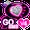 Sparkle Heart Theme for GO SMS