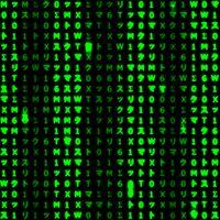 Ícone do Digitais Matrix fundo dinâmica