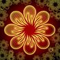 Neon Flor fundo dinâmica