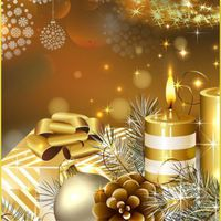 2017 & Gold Christmas Theme icon