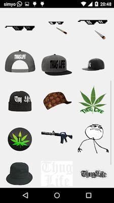 Thug Life Photo Stickers screenshot apk 1