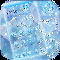 Ikon apk Biru berlian Glitter tema Wallpaper Blue Diamond