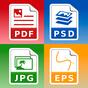 Conversor de fotos e imagens: jpg pdf eps psd png