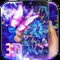 Purple Neon Butterfly 3D Theme  APK
