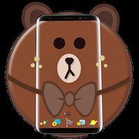 Ikon Tema Kartun Beruang Coklat