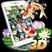 Koi Fish Aquarium 3D Theme apk icon