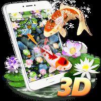 Koi Fish Aquarium 3D Theme apk icon