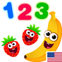 Funny Food 3! Math kids Number games for toddlers