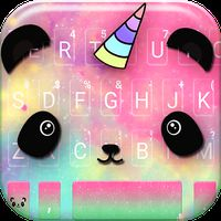 Cartoon Unicorn Panda Keyboard Theme icon