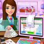 Alto colegio efectivo cajero juegos para niñas