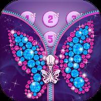 Diamond Butterfly Zipper Screen Lock apk icon