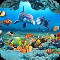 Ikon Fish Live Wallpaper 3D Aquarium Background HD 2018