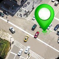 Icône de GPS Satellite route carte direction