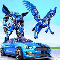Иконка Полиция США Transform Robot Unicorn автомобилей Fl