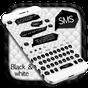 Teclado SMS preto e branco  APK