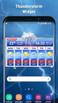 Image 1 of Weather report & temperature widget
