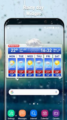 Image of Weather report & temperature widget
