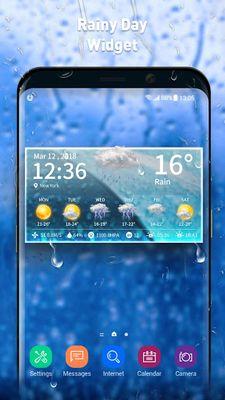 Image of Live weather & clock widget