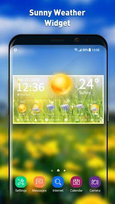 Image 1 of Live weather & clock widget