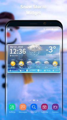 Image 2 of Live weather & clock widget