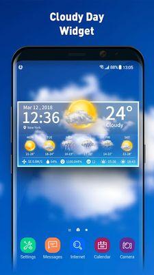 Image 3 of Live weather & clock widget