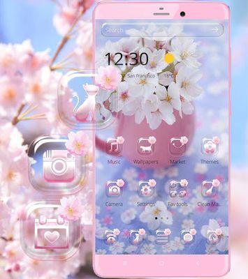 Image 2 of Sakura flower theme wallpaper