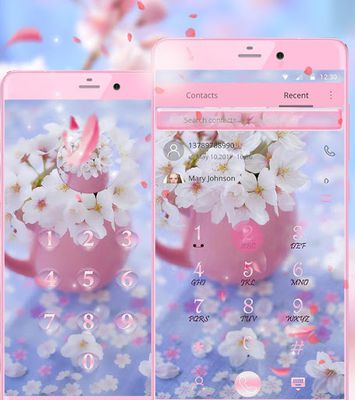Image 1 of Sakura flower theme wallpaper