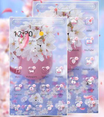 Sakura flower theme wallpaper image