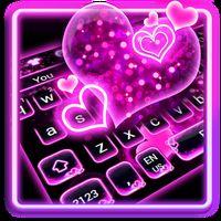 Ícone do apk Sparkling Neon Pink Keyboard