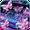 Novo tema de teclado Sparkle Neon Butterfly