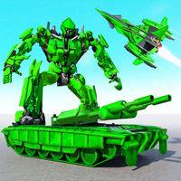 US Army Robot Transformation Jet Robo Car Tank War Simgesi