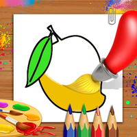 Fruits Coloring Book & Drawing Book - Kids Game Simgesi