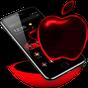 Red Neon Apple Dark Theme  APK