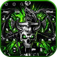 Gothic Metal Graffiti Skull Keyboard Theme icon
