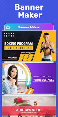 Image 19 of Banner Maker, Web Banner Ads, Roll Up Banners