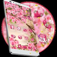 Ícone do apk Tema de flor rosa de verão