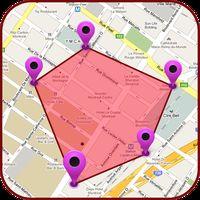 Ícone do GPS terra medição área calculadora:: perímetro
